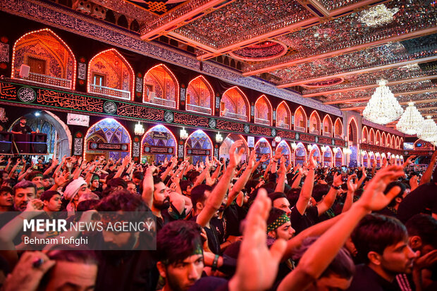 إحياء ليلة اربعين الامام الحسين عليه السلام في كربلاء/ بالصور