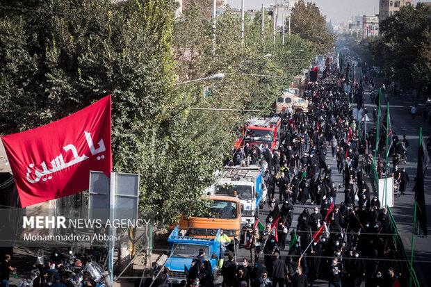 مراسم راهپیمایی جاماندگان اربعین حسینی با حضور مردم صبح دوشنبه ۵ شهریور ۱۴۰۰ از میدان امام حسین (ع)  به سمت حرم عبدالعظیم حسنی (ع) برگزار شد