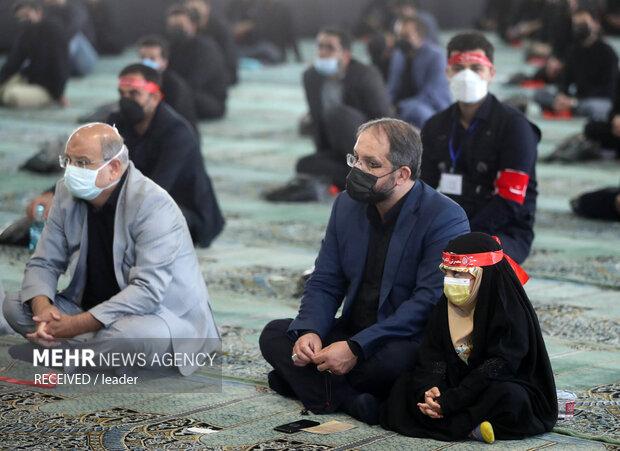 مراسم عزاداری اربعین حسینی در حضور رهبر  معظم انقلاب