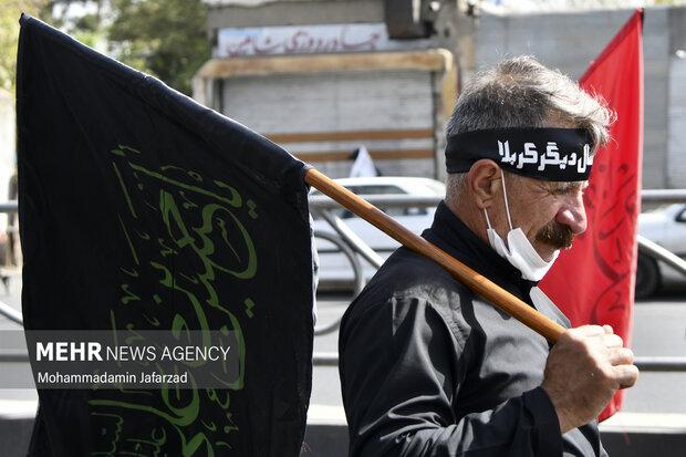 مراسم راهپیمایی جاماندگان اربعین حسینی(ع) در تهران