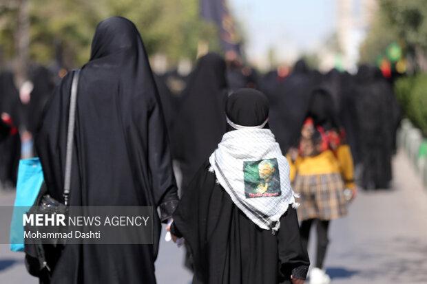 پیاده روی بازماندگان اربعین در اردبیل