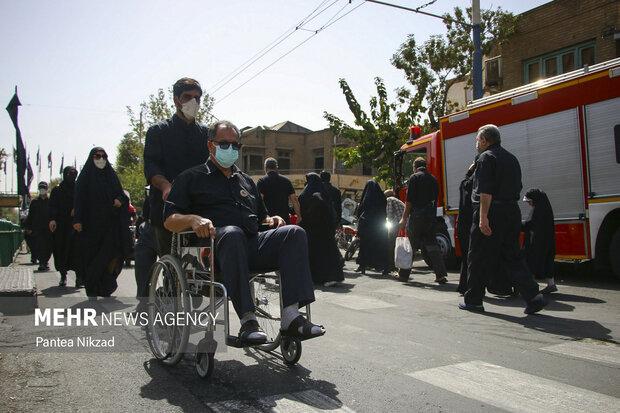 جانبازان و معلولین نیز در مراسم پیاده روی اربعین شرکت کردند
