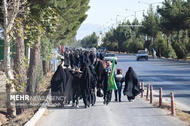 راهپیمایی اربعین در سمنان