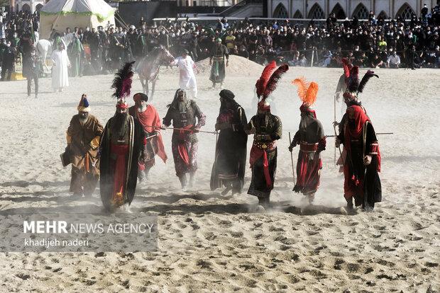 مراسم تعزیه روز اربعین در امامزاده شاه کرم اصفهان