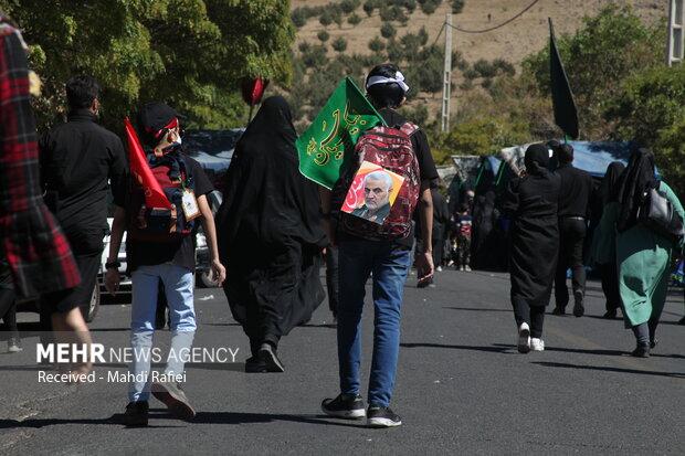 مراسم راهپیمایی جاماندگان اربعین حسینی در زنجان