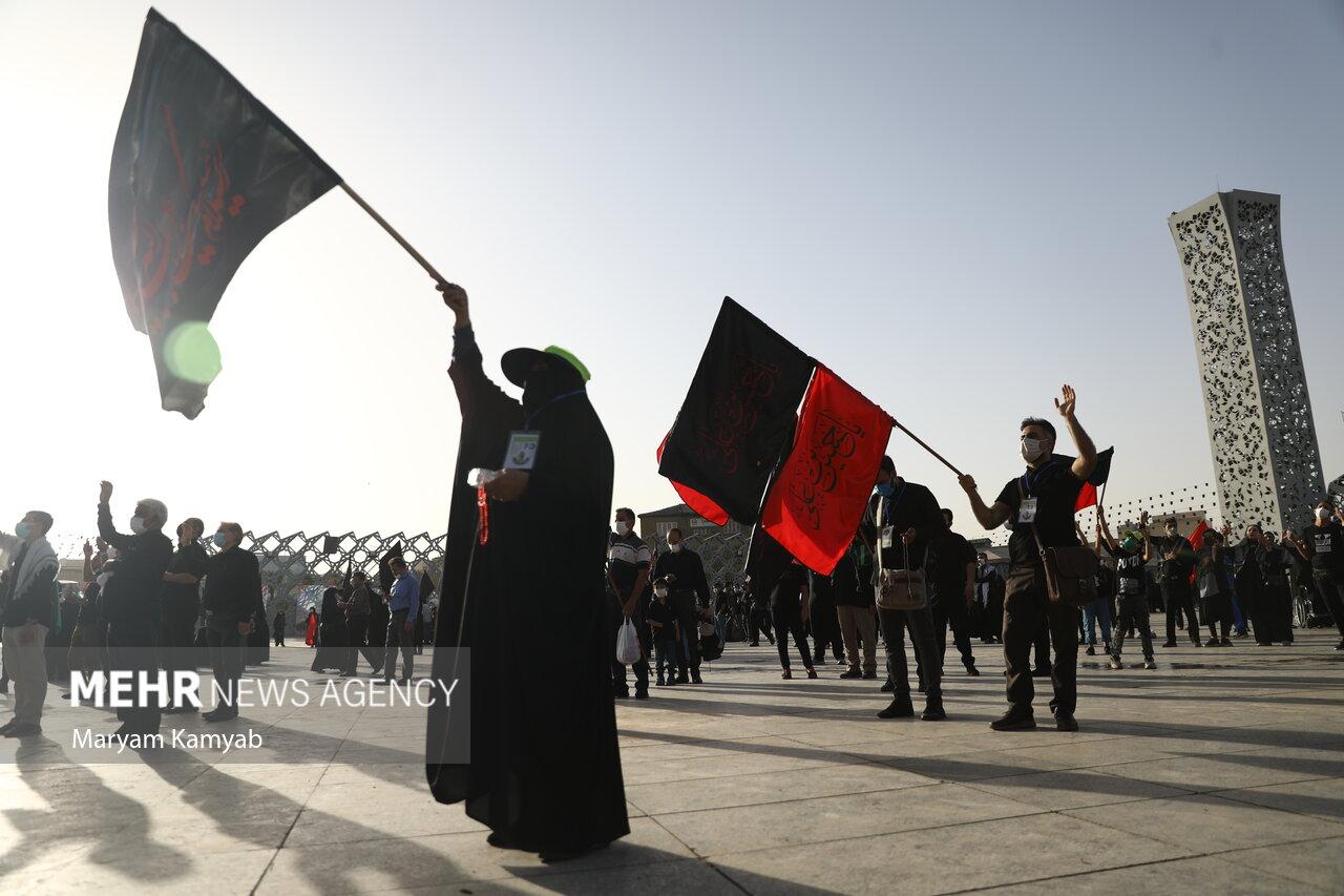 آغاز پیاده روی جاماندگان اربعین در تهران