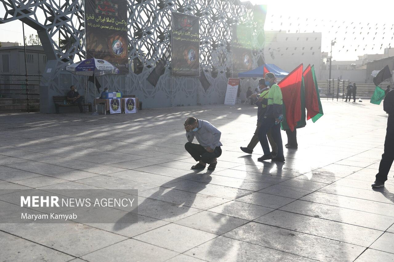 آغاز مراسم راهپیمایی جاماندگان اربعین حسینی