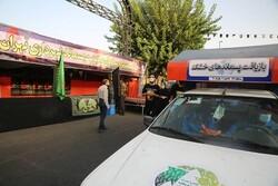 خدمت رسانی۵۰۰ نیروی خدمات شهری در پیاده روی جاماندگان اربعین