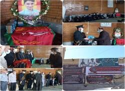 پرچم مسجد مقدس جمکران به خانواده شهید علی لندی اهدا شد