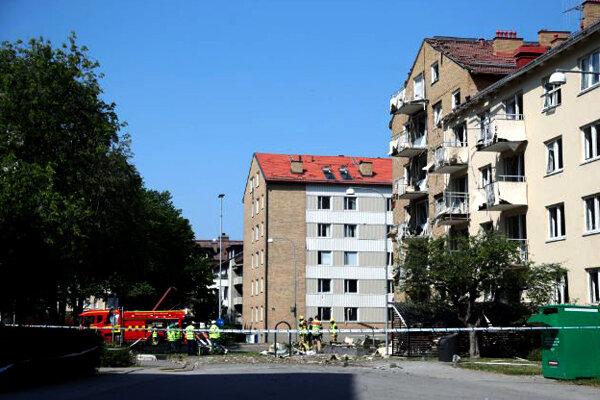یک مجتمع مسکونی در سوئد منفجر شد