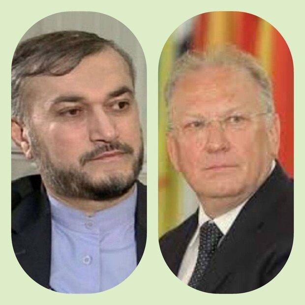 أمير عبداللهيان يؤكد ضرورة توسيع وتعميق التعاون بين ايران وبلغاريا