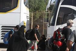 انتقال زائران اربعین در مرز مهران با ۲۵۰۰ دستگاه اتوبوس