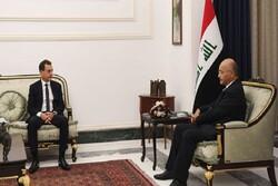 پیام مکتوب رئیس جمهوری فرانسه به همتای عراقی تقدیم شد