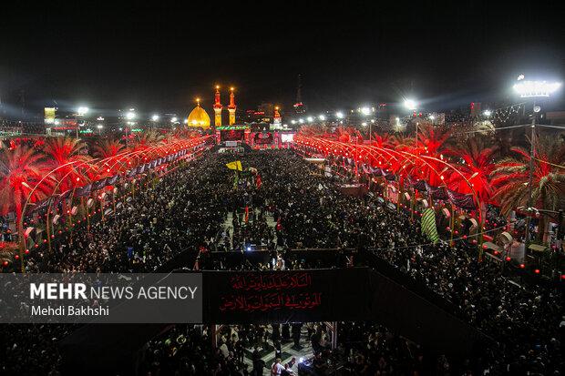 وداع زائران اربعین حسینی با کربلا