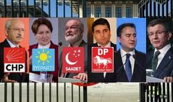 6 parti aday belirlemek için bir araya geliyor