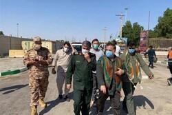 معاون عملیات سپاه پاسداران از مرز مهران بازدید کرد