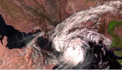 فاصله ۸۰ کیلومتری طوفان شاهین با محل احتمالی برخورد
