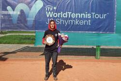 Iranian female tennis player into 2020 Australian Open