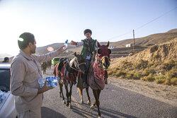 خراسان شمالی سے گھوڑ سواروں کا قافلہ 260 کلومیٹر سفر طے کرکے مشہد پہنچے گا