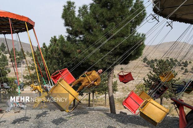 نمايى از محل تفريحى قرغه در كابل که در این روز ها کمتر شاهد حضور مردم  است