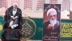 مراسم ارتحال آیتالله حسنزاده آملی در بوشهر برگزار شد