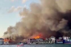 Hundreds flee as fire ravages Honduras island of Guanaja