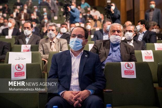 سید محمد مقیمی سرپرست جدید  دانشگاه تهران در مراسم تودیع و معارفه رئیس دانشگاه تهران حضور دارد