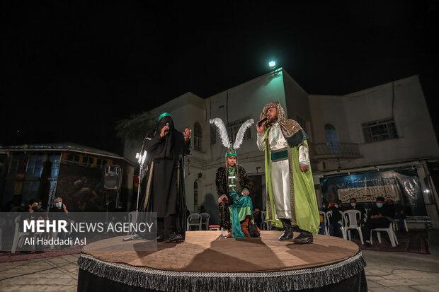 تعزیه حضرت قاسم(ع) در ویژه برنامه سوگواره آئینی زخم عتیق به اجرا در آمد