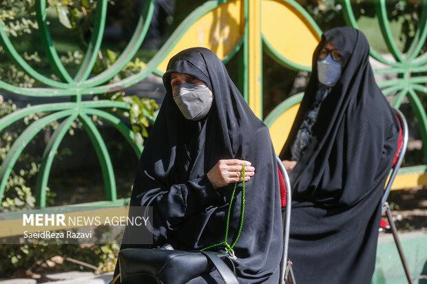 مراسم عزاداری رحلت پیامبر (ص) و شهادت امام حسن (ع) در میدان صادقیه تهران