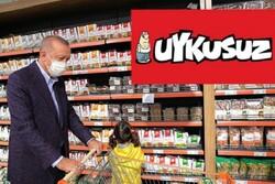Uykusuz'dan Erdoğan göndermeli market kapağı