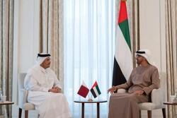ولیعهد «أبوظبی» با وزیر خارجه قطر دیدار و گفتگو کرد