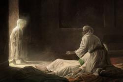 آخرین دیدار امام رضا (ع) و فرزندشان به نگارگری حسن روح الامین