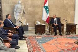 Emir Abdullahiyan Lübnan Cumhurbaşkanı ile görüştü