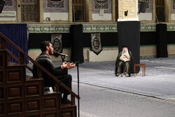 Leader attends mourning ceremony of Imam Reza (PBUH)