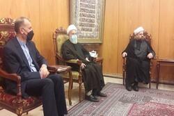 امير عبداللهيان يلتقي باسرة الامام موسى الصدر