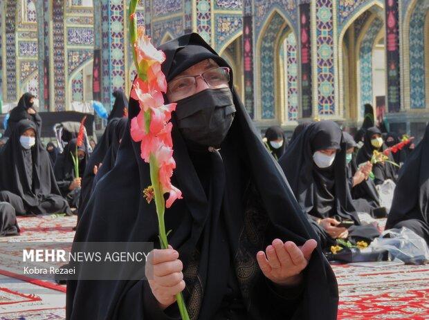 مراسم عزاداری زنان نوغان در حرم مطهر رضوی