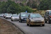 ترافیک محورهای کندوان و هراز نیمه سنگین و سنگین است