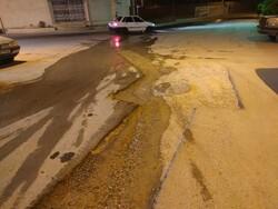 زخم کاری آب وفاضلاب بر خیابانهای شهر یاسوج