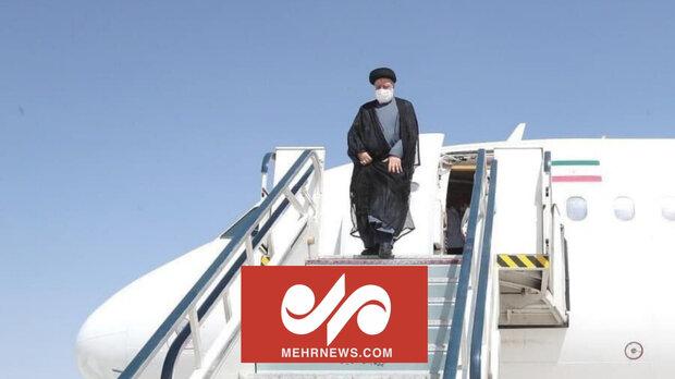 صدر ابراہیم رئیسی بوشہر پہنچ گئے