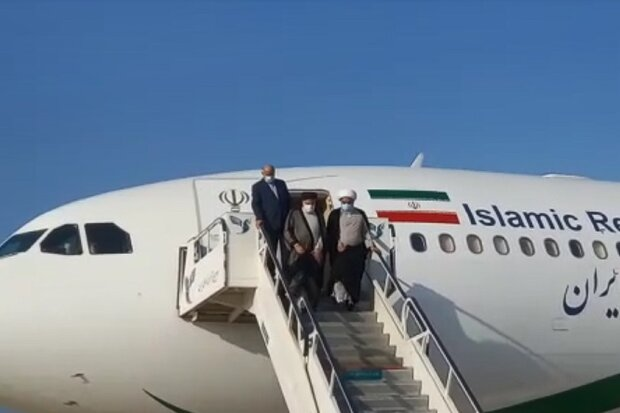 صدر ابراہیم رئیسی صوبائی دورے پر بوشہر پہنچ گئے