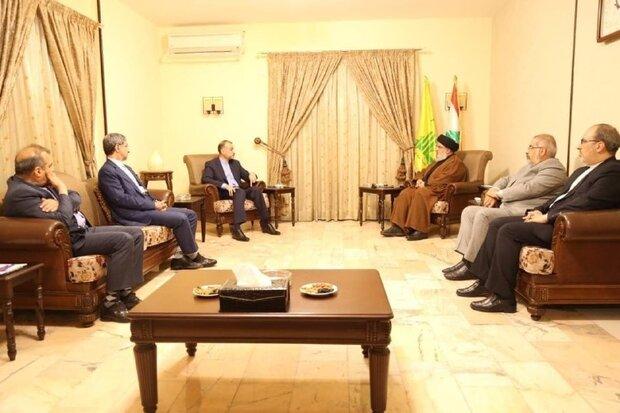 ایرانی وزیر خارجہ کی سید حسن نصر اللہ سے ملاقات