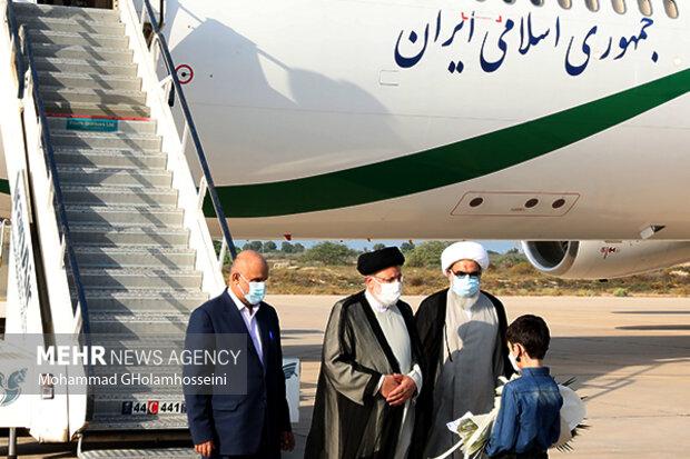 سفر ابراهیم  رئیسی رئیس جمهور به بوشهر