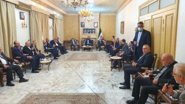 ایرانی وزیر خارجہ کی لبنان کی ممتاز شخصیات سے ملاقات