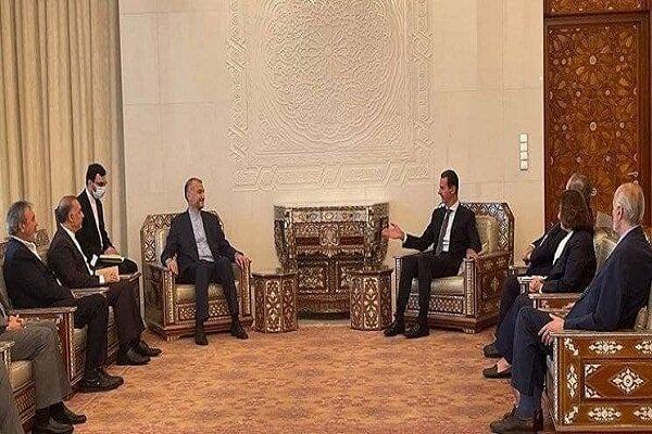 Emir Abdullahiyan, Beşar Esad ile görüştü