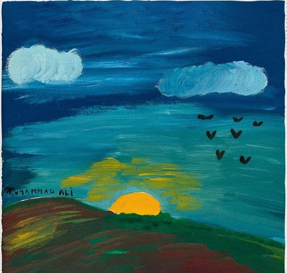 نقاشیهای بوکسور معروف، محمدعلی کلی، در نمایشگاه لندن
