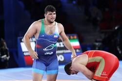 İran ağır siklet grekoromen güreş tarihinin ilk altın madalyasını kazandı