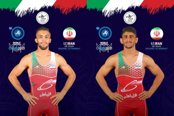 ایران کے دو پہلوانوں نے کشتی کے عالمی مقابلوں میں گولڈ میڈلز حاصل کرلئے