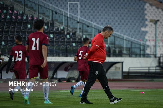 تدريبات منتخب إيران لكرة القدم استعداد لمواجهة الكوري الجنوبي/ بالصور