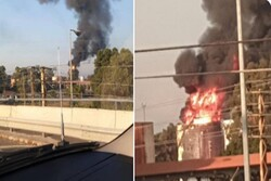 Huge fire breaks out near oil facility in S Lebanon (+VIDEO)