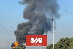 لبنان کی آئل فیکٹری کے قریب خوفناک آگ بھڑک اُٹھی